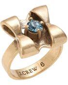 J.Crew Tiny Bow Ring - Lyst