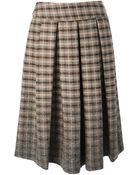 Erika Cavallini Semi Couture Patterned Pleated Midi Skirt - Lyst