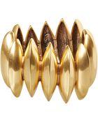 Oscar de la Renta Gold-Tone Disk Necklace - Lyst