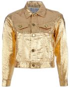 Comme Des Garçons Vintage Cropped Metallic Jacket - Lyst