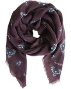 Terracotta New York Olin Owl Cashmere Scarf - Nocturnal Journey - Lyst