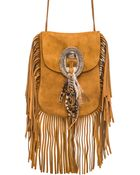Saint Laurent Anita Bag With Feathers And Fringe - Lyst