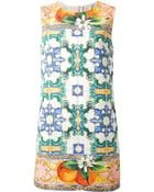 Dolce & Gabbana Sicilia Printed Dress - Lyst
