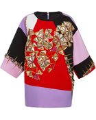 Fausto Puglisi Embellished Multicolor T-shirt - Lyst