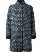 Tory Burch Patterned Coat - Lyst