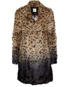 Each X Other Leopardprint Ombré Goat Hair Coat - Lyst