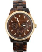 Michael Kors Tortoise Chronograph Watch - Lyst