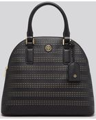 Tory Burch Satchel - Robinson Perforated Dome - Lyst