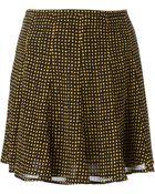 MICHAEL Michael Kors Geometric Print Godets Skirt - Lyst
