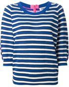 Sonia Rykiel Contrasting Stripes Panelled Sweater - Lyst