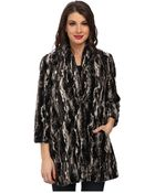 Karen Kane Marble Faux Fur Jacket - Lyst