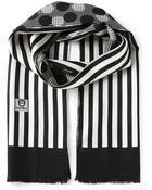 Dolce & Gabbana Striped Polka Dot Scarf Tie - Lyst