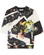 Erdem Kia Floral-Print Stretch-Neoprene Top - Lyst