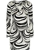 Diane von Furstenberg Reina Printed Silk-Jersey Mini Dress - Lyst