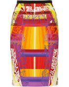 Peter Pilotto Shift Printed Stretch-Cady Pencil Skirt - Lyst