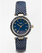 Oasis Watch With Croc Effect Strap - Lyst