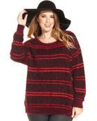 Jessica Simpson Plus Size Striped Sweater - Lyst