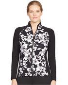 Lauren by Ralph Lauren Plus Size Floral-Print Track Jacket - Lyst