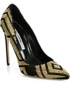 Brian Atwood Alis Studded Suede Pumps - Lyst