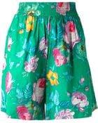 Kenzo Vintage Floral Print Shorts - Lyst