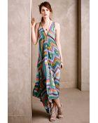 Twelfth Street Cynthia Vincent Iska Zip-Front Maxi Dress - Lyst