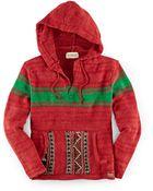 Ralph Lauren Striped Cotton-Blend Hoodie - Lyst