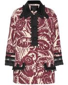 Marc Jacobs Embellished Printed Wool Jacket - Lyst