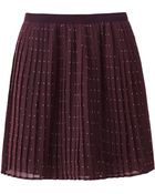 Uniqlo Women Chiffon Pleated Print Mini Skirt - Lyst