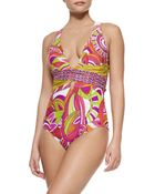 Trina Turk Amazonia Printed One-Piece Swimsuit - Lyst