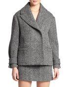 Burberry Brit Wool Herringbone Jacket - Lyst