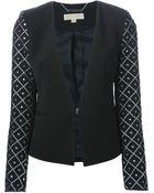 MICHAEL Michael Kors Argyle Sleeve Jacket - Lyst