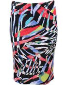 Just Cavalli Printed Jersey Skirt - Lyst