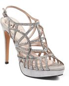 Vince Camuto Janene Satin Highheel Sandals with Crystal Accents - Lyst