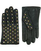Ted Baker Studded Leather Touch Screen Gloves - Lyst