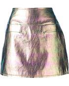 Marc By Marc Jacobs Metallic Mini Skirt - Lyst