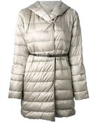 Max Mara Padded Belted Coat - Lyst