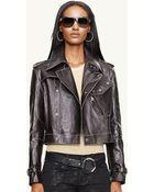Ralph Lauren Black Label Leather Military Jacket - Lyst