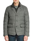 Vince Camuto Quilted Flannel Jacket - Lyst