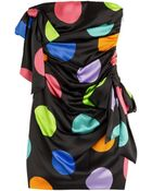 Moschino Printed Silk Dress - Lyst