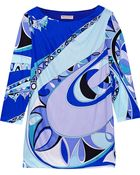 Emilio Pucci Printed Satin-Jersey Top - Lyst
