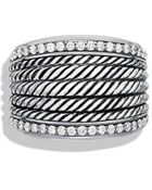 David Yurman Wheaton Band Ring with Diamonds - Lyst