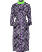 Roksanda Ilincic Plaid Silk And Wool-Blend Dress - Lyst