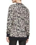 Rag & Bone Amoebaprint Knit Sweatshirt - Lyst