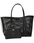 Dolce & Gabbana Perforated Textured-Leather Tote - Lyst