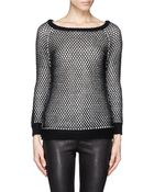 Alice + Olivia 'Manda' Eyelet Knit Sweater - Lyst