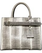 Reed Krakoff Rk40 Medium Snakeskin Belted Tote Bag - Lyst