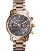 Michael Kors Landaulet Rose Gold Bracelet Watch - For Men - Lyst