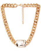 Forever 21 Faux Gem Statement Necklace - Lyst