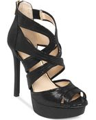Jessica Simpson Cheere Criss Cross Platform Dress Sandals - Lyst