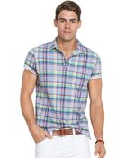 Polo Ralph Lauren Plaid Jersey Polo Shirt - Lyst